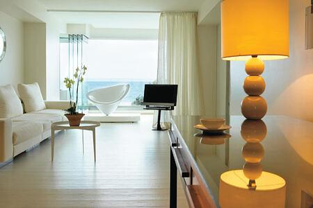 luxury junior uite living area and lounges at Amirandes Crete