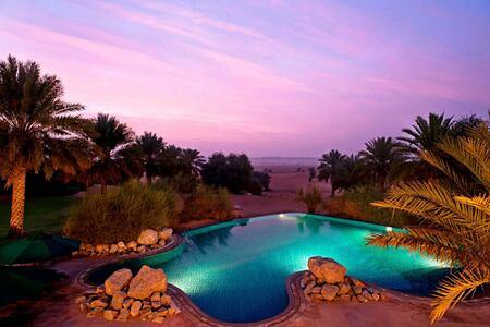 main swimming pool at al maya desert resort dubai