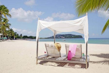 malabar beach at rendezvous resort st lucia caribbean