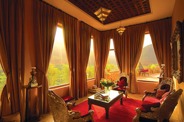 master suite lounge at kasbah tamadot hotel morocco