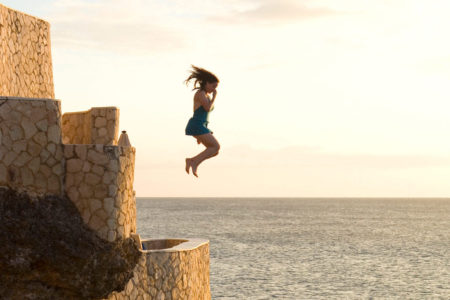 morning jump in to the sea at the caves hotel jamaica