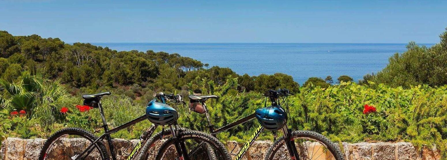 mountain bikes ready for you at Sa Punta Hotel Mallorca