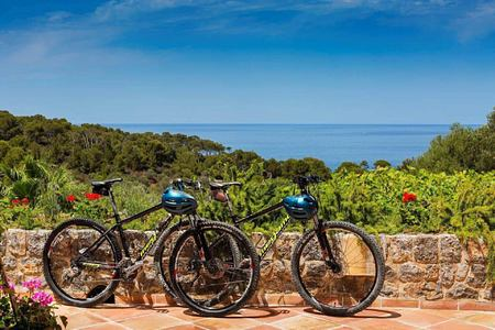 mountain bikes ready for you at Sa Punta Hotel Mallorca