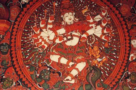 traditional art at Neeleshwar hotel