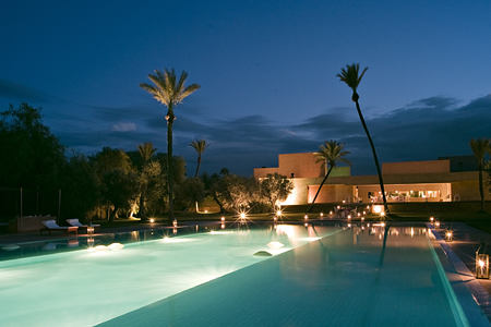 night time exterior at dar sabra hotel marrakech