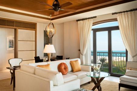 ocean suite living room at st regis island resort abu dhabi