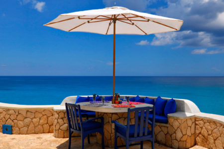 ocean view terrace at the caves hotel jamaica