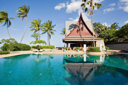 outdoor pool at chiva som resort thailand