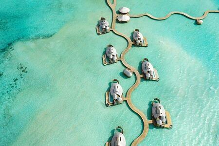 overwater villas at soneva jani at soneva jani beach resort