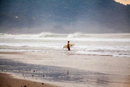 pacific surf at latitude 10 costa rica