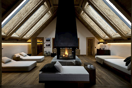 panorama suite private spa treatment room at alpina gstaad hotel switzerland