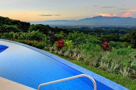 pool and view at xandari resort and spa costa rica