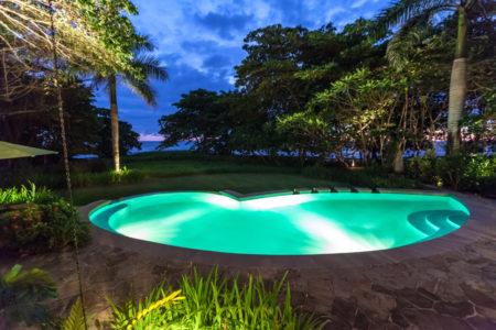 pool at night at latitude 10 costa rica