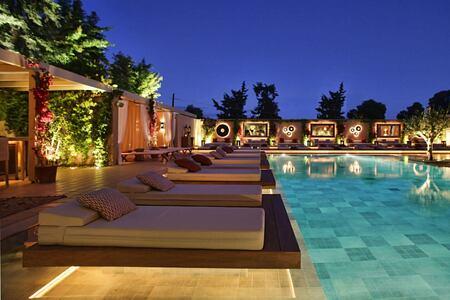 pool at night at The Margi hotel