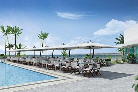pool deck restaurant at nobu hotel ibiza bay