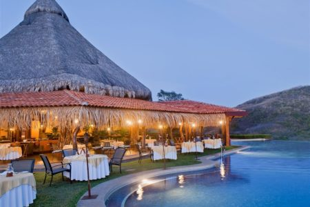 poolside dining at punta islita hotel costa rica