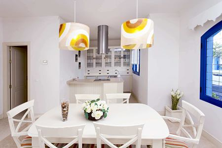 premier garden villa dining and kitchen space at Bahiazul Villas and Club