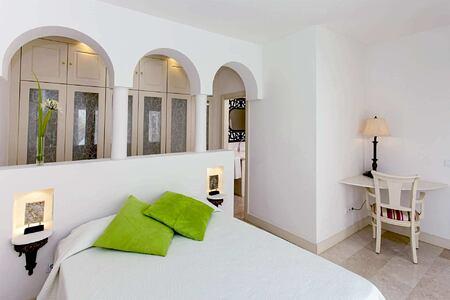 premier garden villa double bedroom at Bahiazul Villas and Club