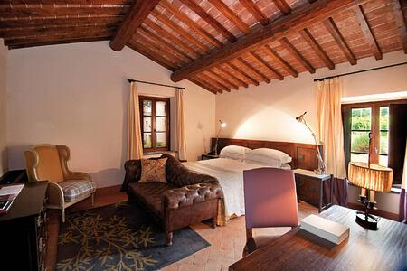 prestige room at Castel Monastero hotel