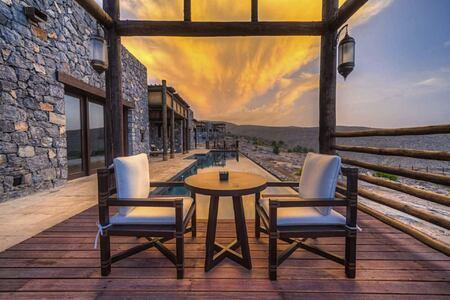 private pool at alila jabel akhdar resort oman