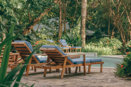relax by the pool at latitude 10 costa rica