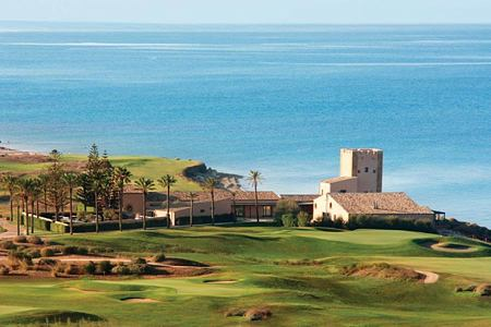 resort and golf course view at Verdura Resort Italy
