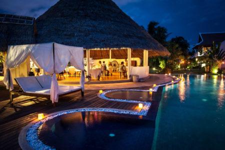 restaurant at night at navutu dreams resort cambodia