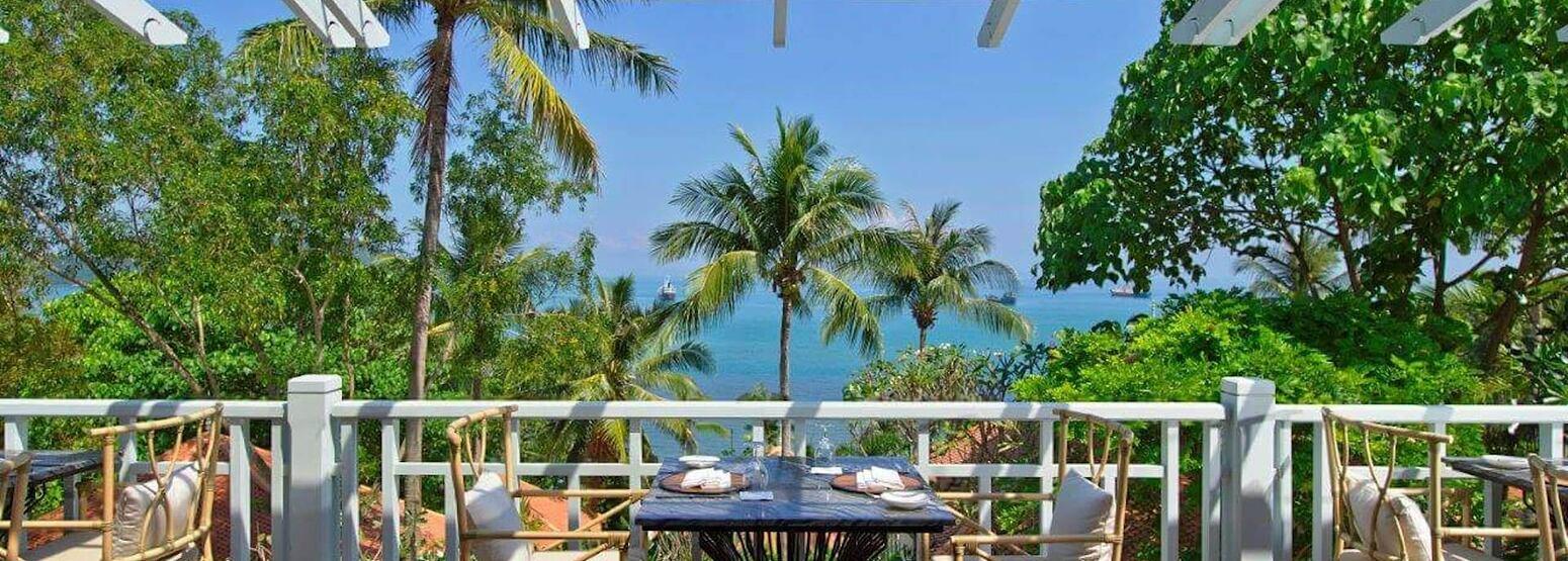 restaurant terrace at amatara wellness resort thailand