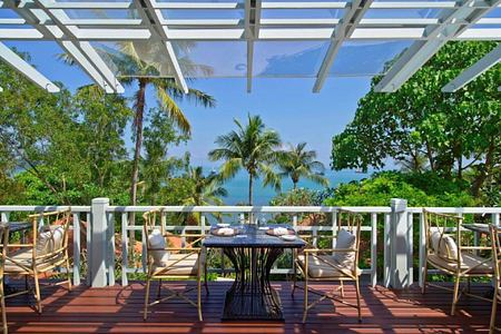 restaurant terrace at amatara wellness resort thailand