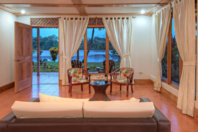 river view downstairs junior suite at tortuga lodge costa rica
