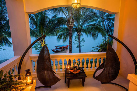 river view suite balcony at anantara hoi an hotel vietnam