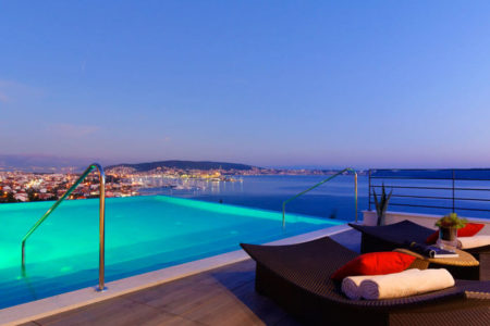 rooftop pool at hotel ola croatia