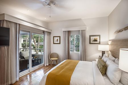 bedroom with balcony at Waves Hotel and Spa Barbados