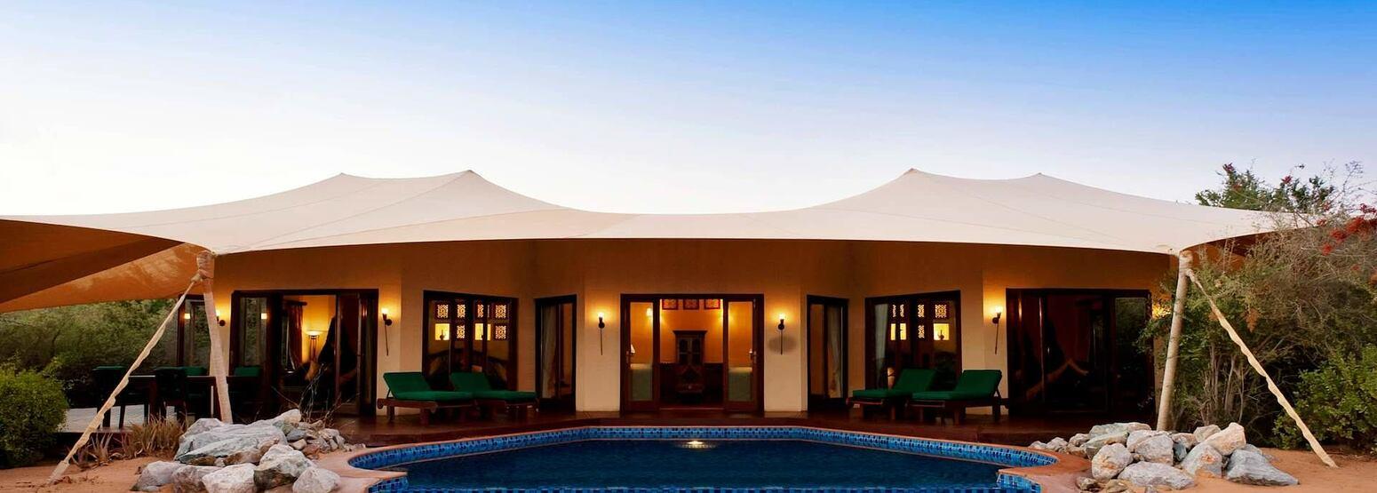 royal suite - exterior at al maya desert resort dubai
