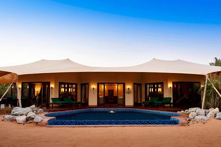 royal suite - exterior at al maya desert resort dubai