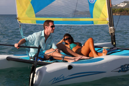 sailing at rendezvous resort st lucia caribbean