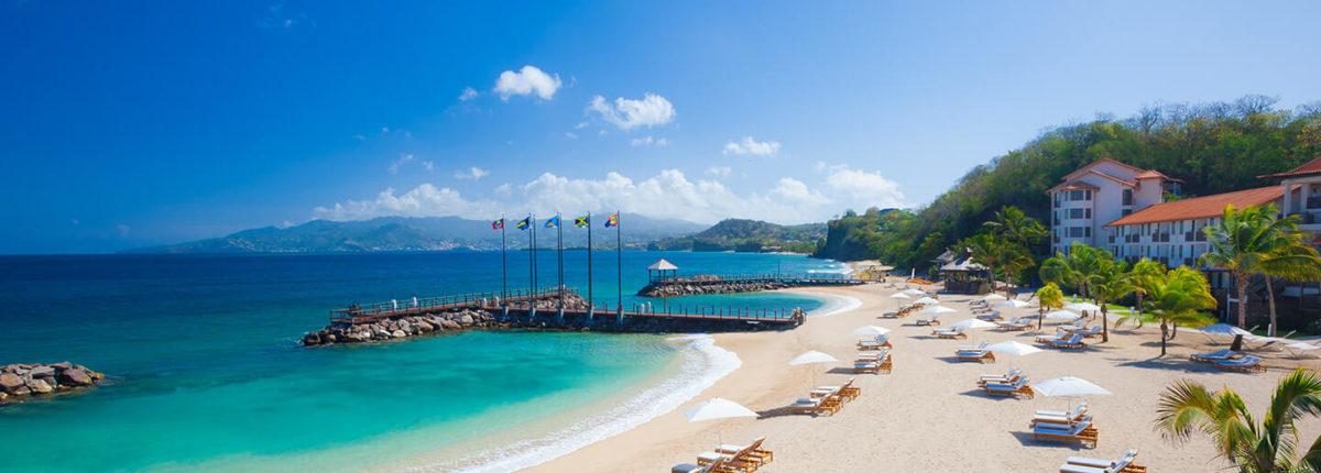 beach at sandals la source resort and spa grenada