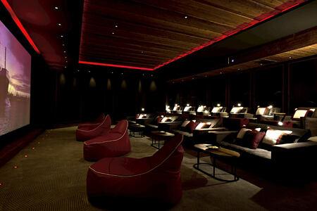 screening room at alpina gstaad hotel switzerland