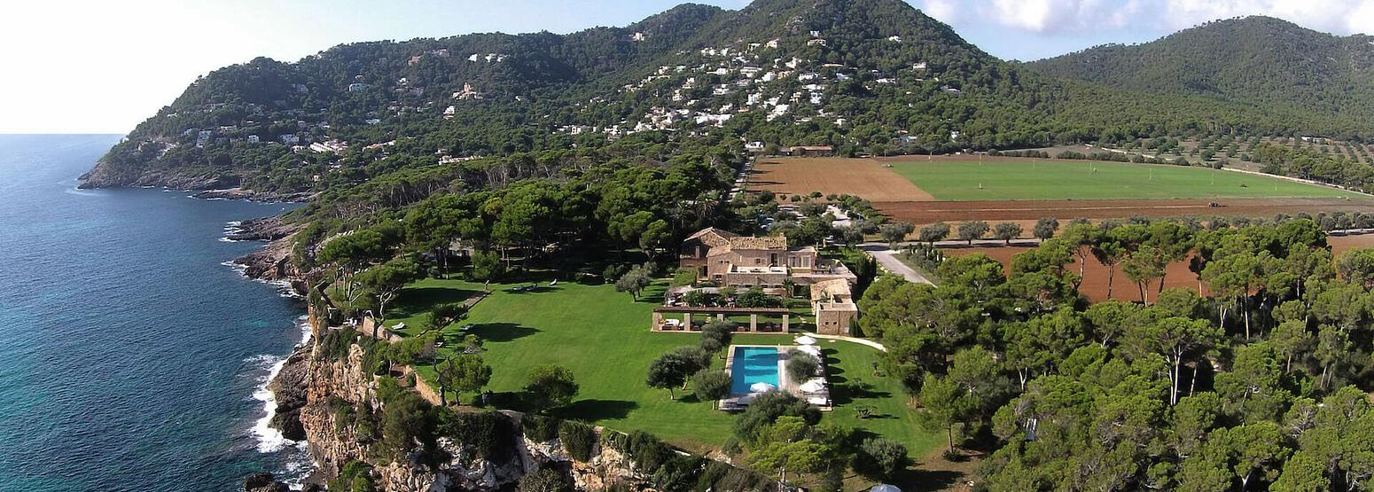 aerial view of can simoneta hotel mallorca