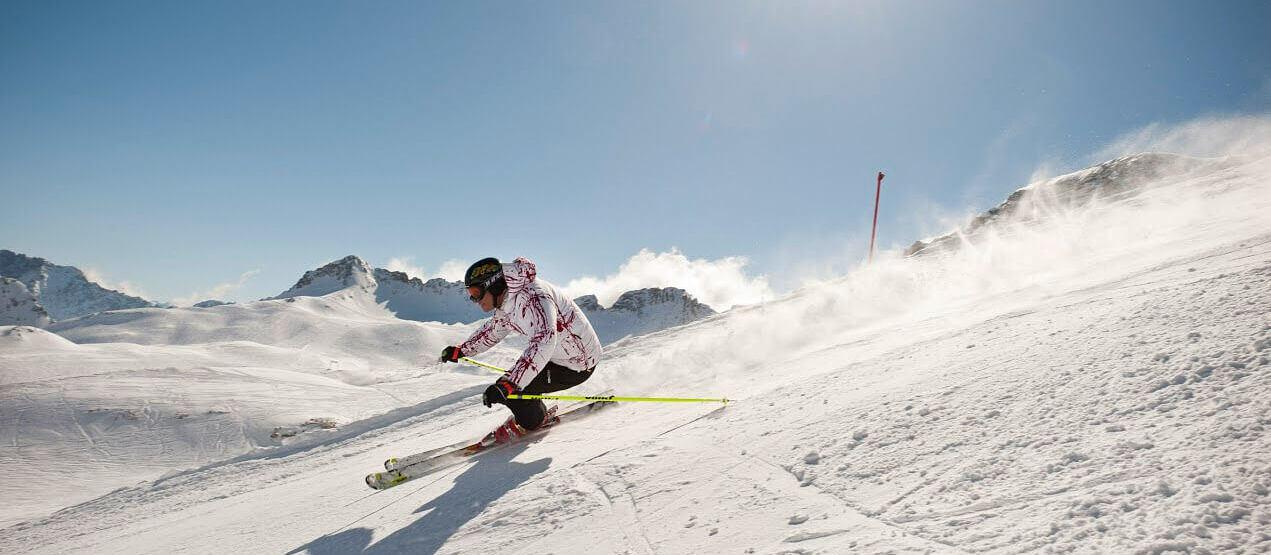 skiing at Schloss Elmau