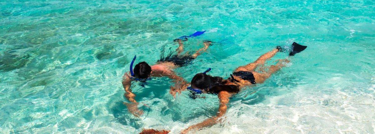 snorkelling at sandals emerald bay resort bahamas