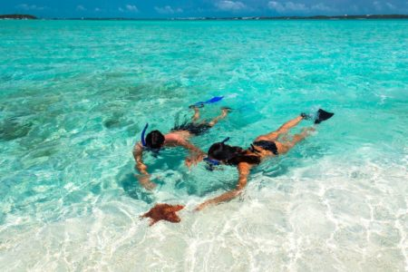 snorkelling at sandals emerald bay resort bahamas