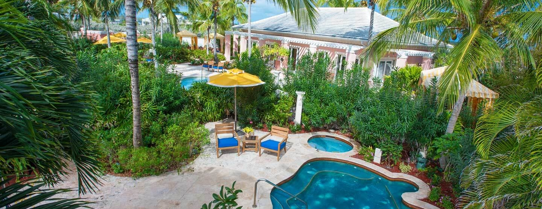 spa and spa pools at sandals emerald bay resort bahamas