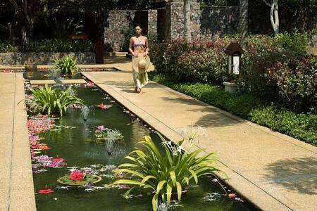 spa garden at Tanjong Jara Resort Malaysia