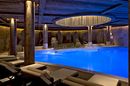 spa pool at alpina gstaad hotel switzerland