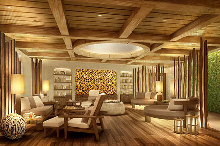 spa relaxation area at alpina gstaad hotel switzerland