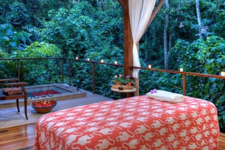 spa treatment room at nayara springs hotel costa rica