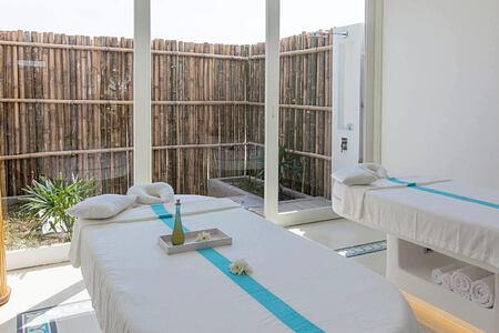 spa treatment room at alma oasis vietnam