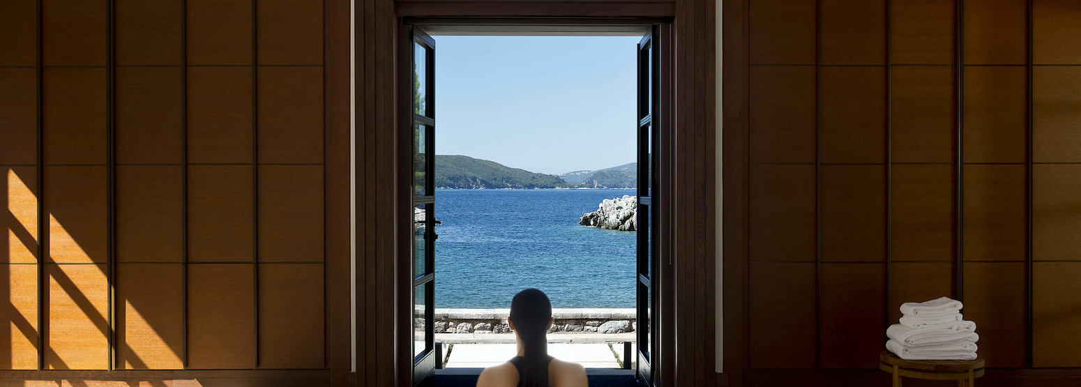spa yoga pavilion at aman sveti stefan resort montenegro
