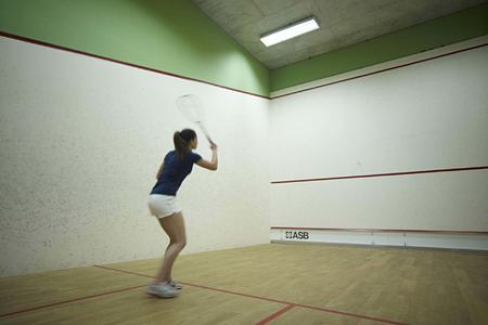 squash court at columbia hotel cyprus